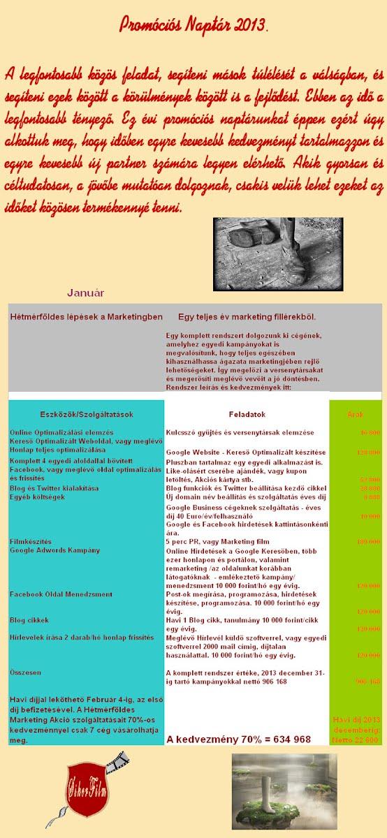 Januári Marketing Akció Debrecen